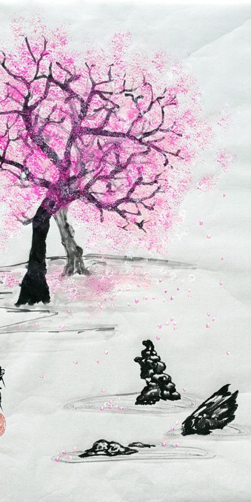 Zen Garden in Winter
